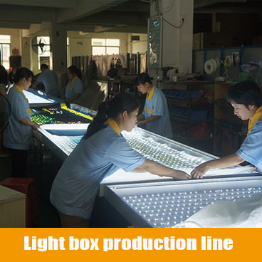 Light box production line