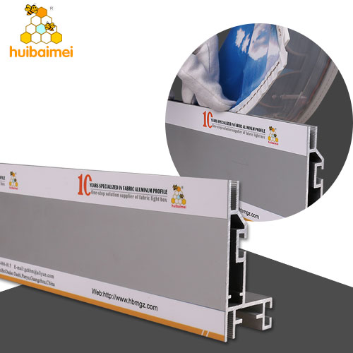 special design for foreign high-end brands use 8CM fabric aluminum extrusion frame for light box
