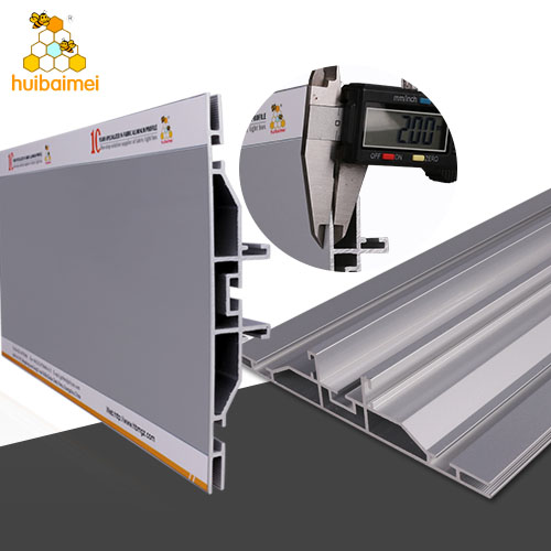 lightbox frame aluminium profile for frame 160MM edgelit exhibition advertising light box aluminum frame