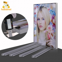 Non-lit aluminum profile 17mm frameless textile frame for advertising light box