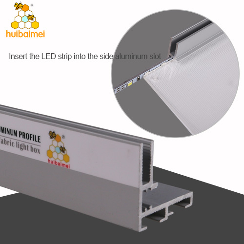 New 30mm LGP backlit light box frame tension fabric frameless aluminum profile for sign box