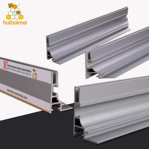 anodized extrusion aluminium frame system profile guangzhou for advertising board silicone edge fabric light box