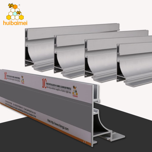 aluminum light box profile Single side 65mm fabric lightbox extrusion aluminum profile frame