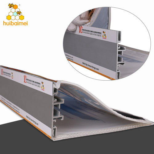 Double side 78mm frameless anodized extruded tension SEG aluminum  profile