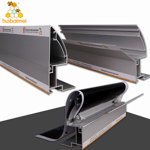 120mm frameless side-snap fabric aluminum profile for large size fabric light box