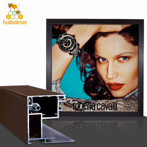 80mm depth aluminium extrusion profile snap fabric frame for outdoor large size advertising lightbox