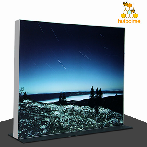 160mm double side aluminum frameless fabric light box customized modular exhibition stands dispaly