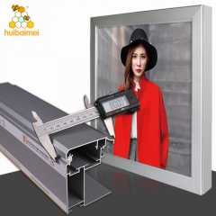 Outdoor advertising 100mm front open aluminum snap frame LED tension fabric lightbox