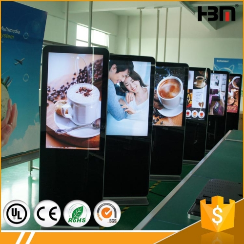 free standing led advertising monitor screen kiosk with android system