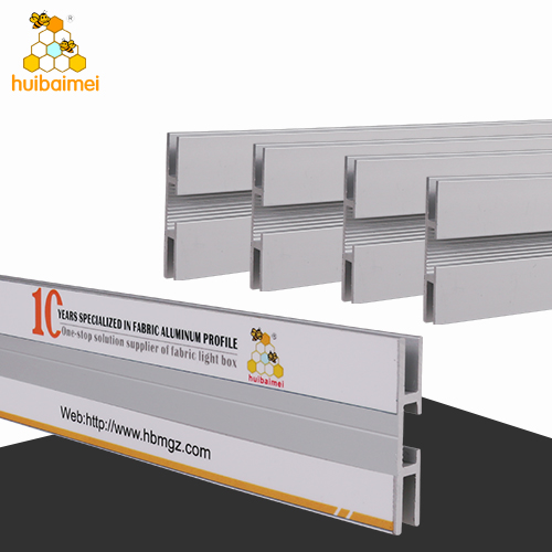 Factory price double side 40mm frameless fabric light box aluminum  profile for brands display