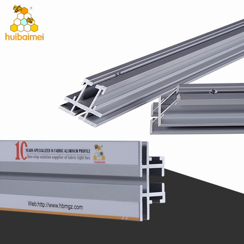 Factory price double side 49.5mm frameless fabric light box aluminum  profile for brands display