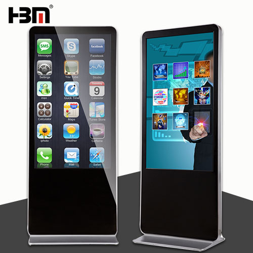 50 inch floor standing digital signage LED touch screen kiosk