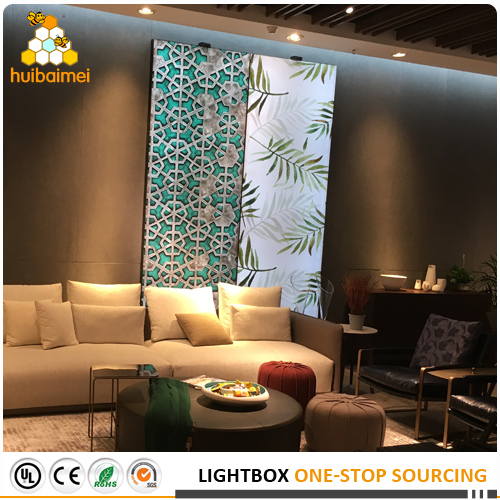 furniture store decoration backlit light box frameless aluminum fabric light box