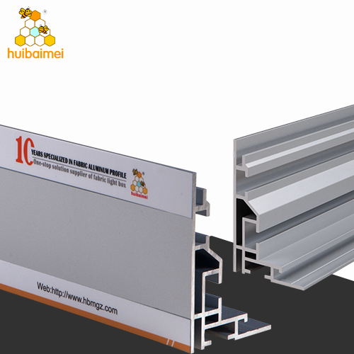 Single side 80mm anodized aluminum extrusion fabric picture profile frame