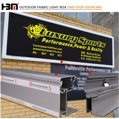 Outside wall advertising enhanced version 100mm  aluminum  frame LED tension fabric lightbox