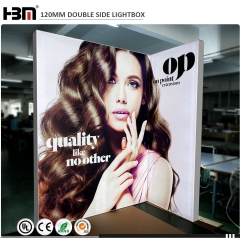 exhibition stand sign board back wall free standing advertising tension fabric light boxes