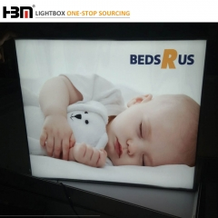 Ultra Slim LGP aluminum frame fabric light box for sleep industry