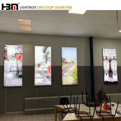 Fashion popular 50mm depth back-lit led3030 single sided shopping mall use advertising fabric light box