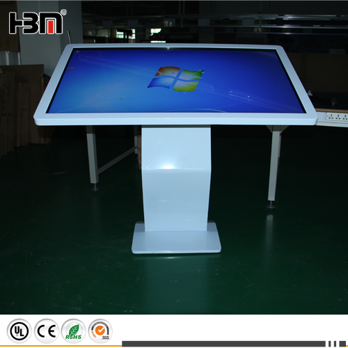 55inch slant multi-touch all in one kiosk LED digital signage screen