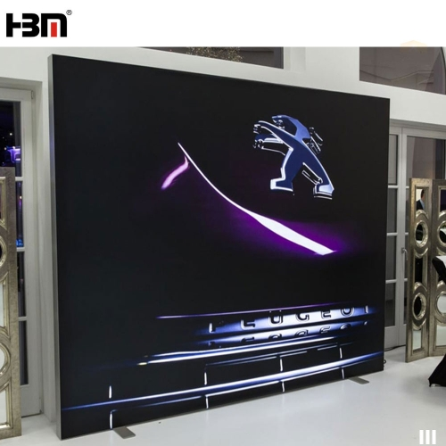 Trade Fair advertising light box 100mm double sided aluminum frameless fabric illuminate light box