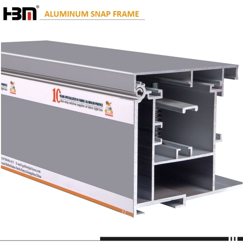 outdoor large project waterproof lightbox aluminum extrusion snap fabric frame aluminium profile