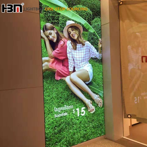 100mm Backlit light durable fabric LED frame advertising display outdoor light box